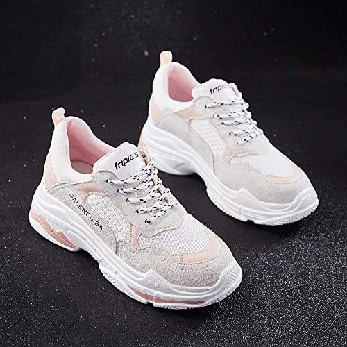 HPLL xie Calzado Deportivo para Mujer, Zapatillas Blancas, Zapatos de Red, Zapatos Casuales