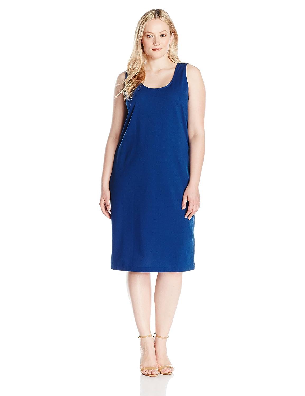 Azure Joan Vass Womens Plus Size Stretch Pique Tank Dress Dress