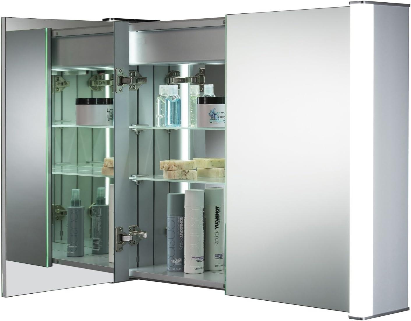 Neue Design Armario de baño con Espejo Iluminado por LED C13 con ...