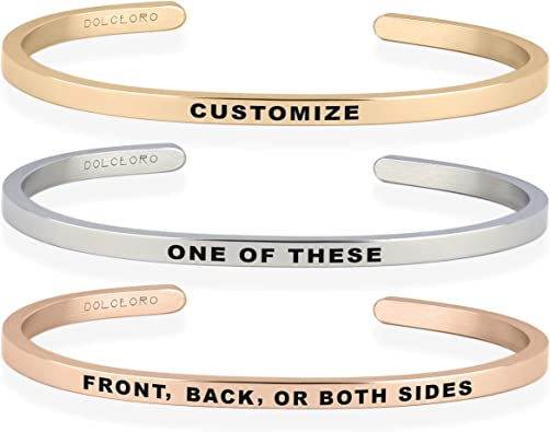 Personalized Sterling Silver Slim Cuff Rose gold Gold Personalized jewelry Personalized bangle, Personalized cuff Bracelet Bangle