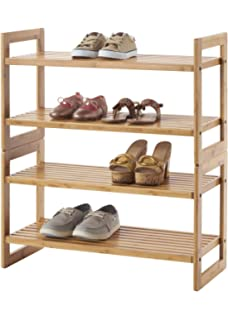 trinity shoe rack 2 pack bamboo - Vertical Shoe Rack