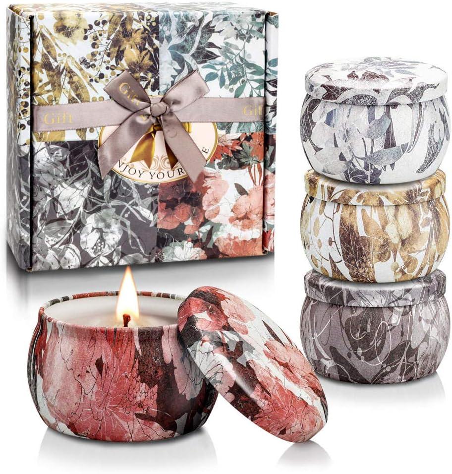 bougies parfumées, bougies votives, ensemble de bougies parfumées, ensemble cadeau bougies parfumées, bougies parfumées de Noël, arôme endormi, déodorant@Langue des fleurs