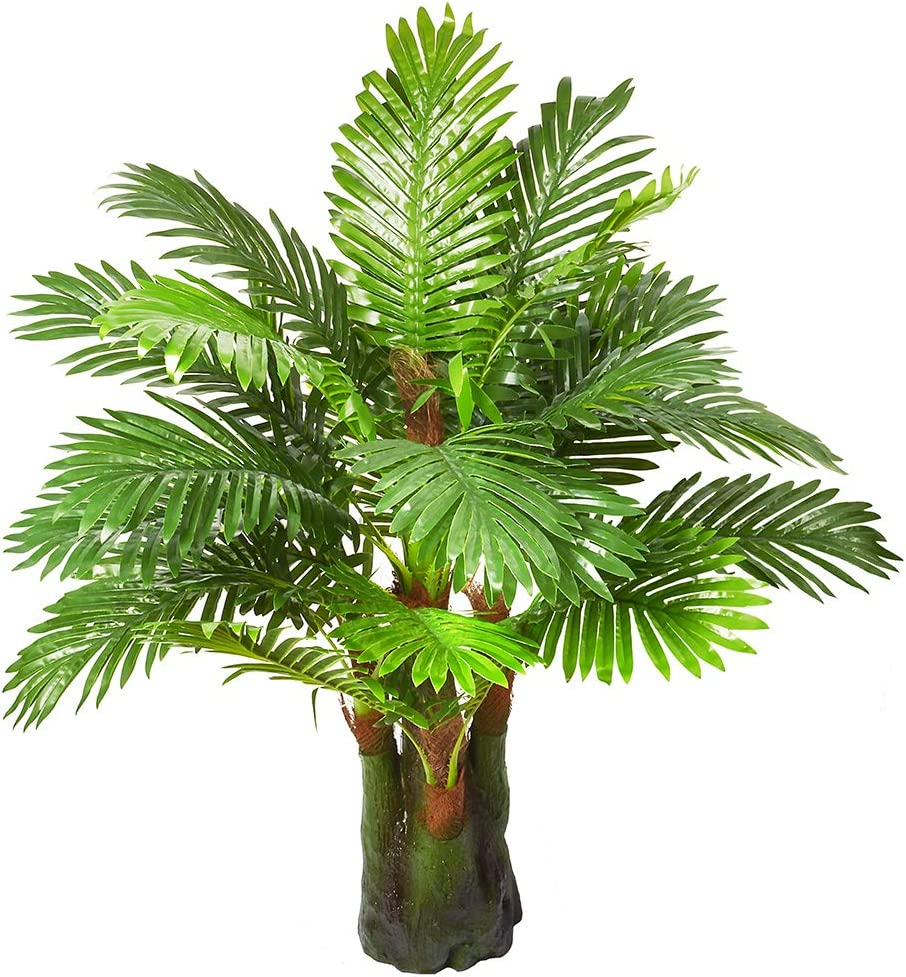 Amazon Com 3 28 Ft Artificial Palm Leaf Tree Plants Imitation Leaf Artificial Plant Green Greenery Plants Faux Faketropical Large Palm Leaves Tree Outdoor Uv Resistant Plants For Home Kitchen Home Kitchen