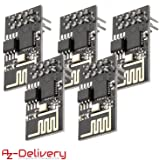 AZDelivery 5 x ESP8266 ESP-01S WLAN WiFi-module voor Arduino en Raspberry Pi met eBook