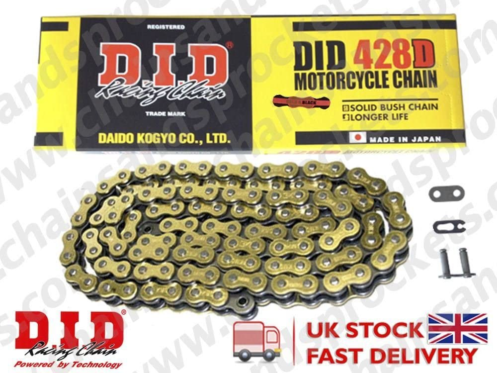 DID Gold Standard Roller Motorcycle Chain 428DGB Pitch 112 Split Link
