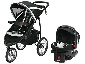 Graco FastAction Fold Jogging Stroller Click Connect Infant Car Seat
