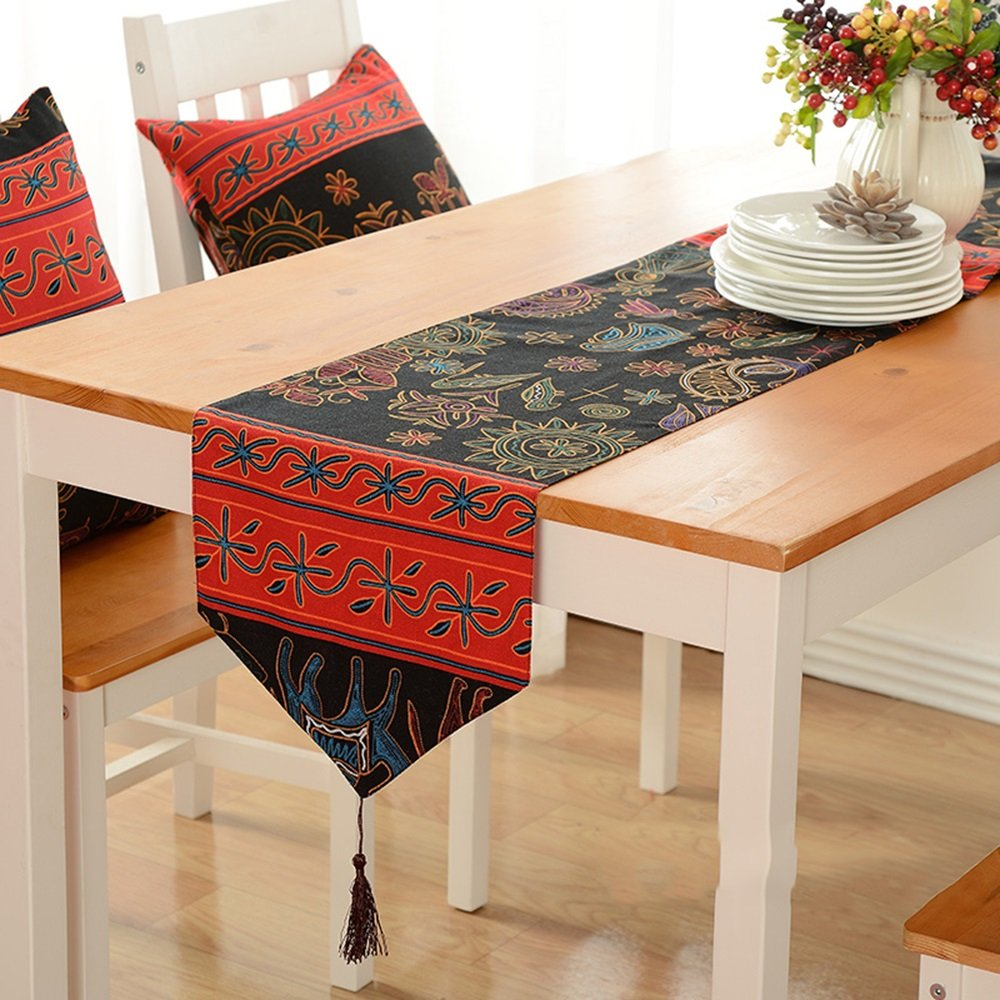 Simple fashion table flag Südostasien Elefanten Pastorale Mode Tisch Tuch Flagge (größe : 30  220cm)