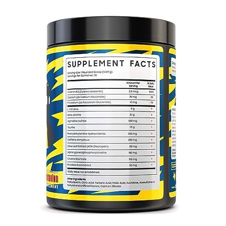 Myth Journey Pre Workout Powder for Men – Energy Supplement Preworkout Drink – Caffeine, Alpha GPC, L-Citrulline, Beta-Alanine – for Men Women, Electric Watermelon, 30 Servings 2018 Formula