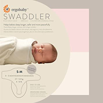 c54108e5a3c Amazon.com  Ergobaby Swaddler 2 Pack - 100% Cotton Baby Swaddle Blanket -  Pink Natural - Small Medium (Discontinued by Manufacturer)  Baby