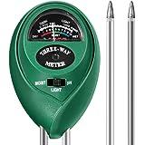 Sopoby 3en 1testeur de sol Mètre d'humidité, lumière et testeur de pH acidité, Plante du sol testeur kit, idéal pour jardin, intérieur et extérieur (sans batterie Nécessaire)