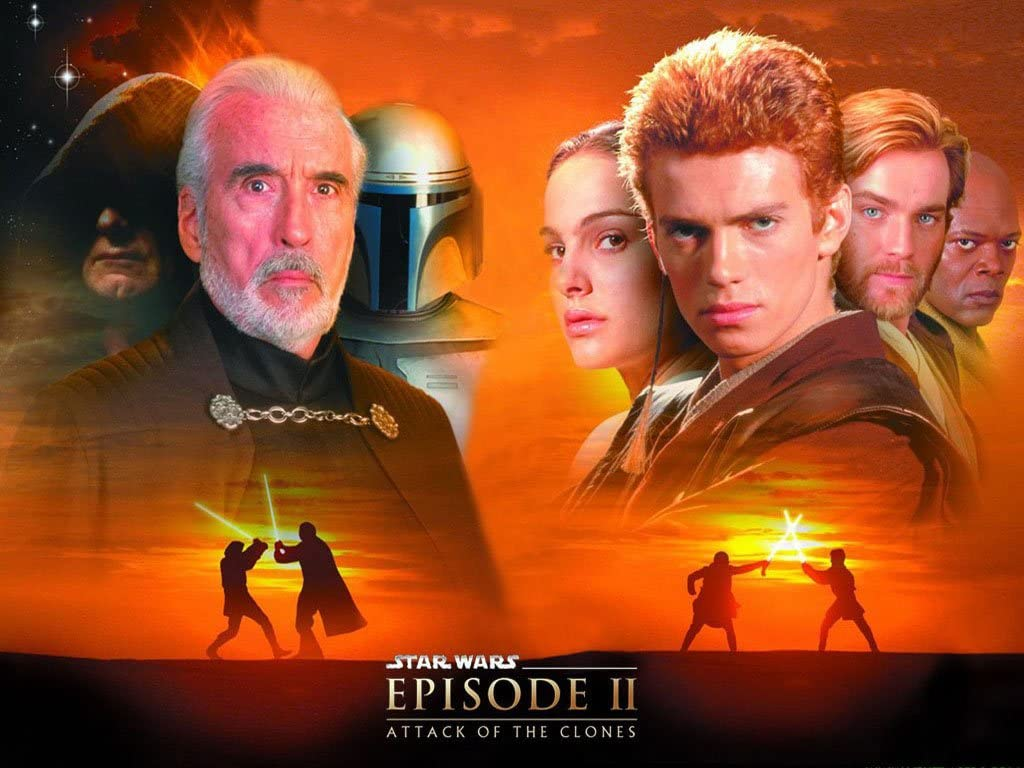 Amazon Com Star Wars Episode Ii Anakin Skywalker Padme Amidala Obi Wan Kenobi Count Dooku Palpatine 20x30 Poster Photo Prints Posters Prints