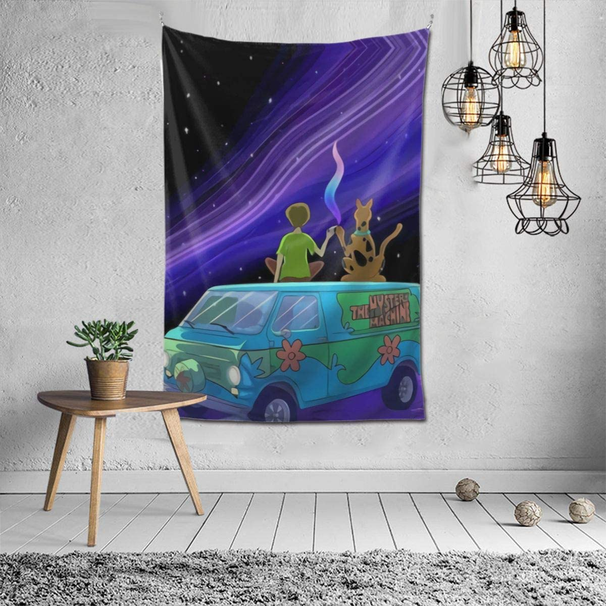 473 Scooby Doo and Shaggy Smoking Trip Tapestry 6040inch