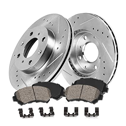 Amazon.com: Callahan CDS02259 FRONT 255mm D/S 4 Lug [4] Rotors + Ceramic Brake Pads + Hardware [ Scion IQ Toyota Prius Yaris ]: Automotive