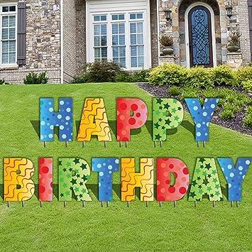 Amazon Happy Birthday Letters Yard Card