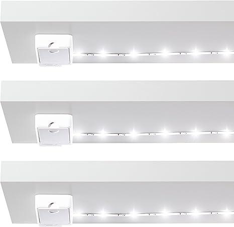 UK Household Battery LED Lights Put Anywhere Stick On Long Battery Life Choice