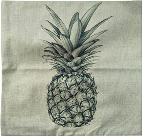 WINOMO Housses de coussin lin maison d/écorative couverture coussin ananas affaire taie d/'oreiller esquisse