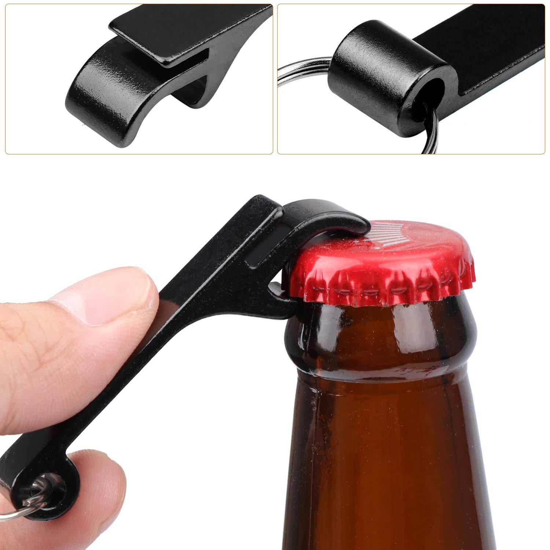 Metall Schl/üsselanh/änger Bier/öffner Klaue zum Bier/öffnen Coolty 20 St/ück 10 Farben Flaschen/öffner Geschenkidee