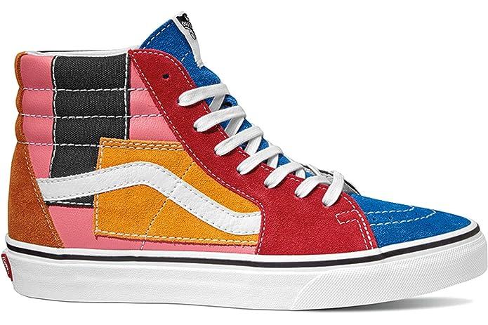 Vans Unisex Erwachsene SK8-Hi High Top Sneakers Rot Blau Orange