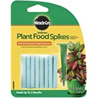 Miracle-Gro Indoor Plant Food Spikes, Includes 24 Spikes - Continuous Feeding for all Flowering and Foliage Houseplants…