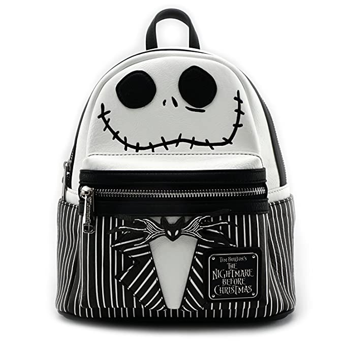 Nightmare Before Christmas Images Black And White.Loungefly X The Nightmare Before Christmas Jack Cosplay Faux Leather Backpack