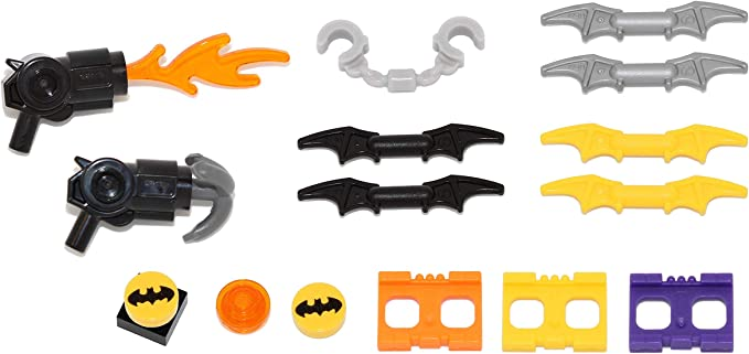 Lego lot 11 gun weapon batman bat-a-rang batarang pearl dark gray 37720 new