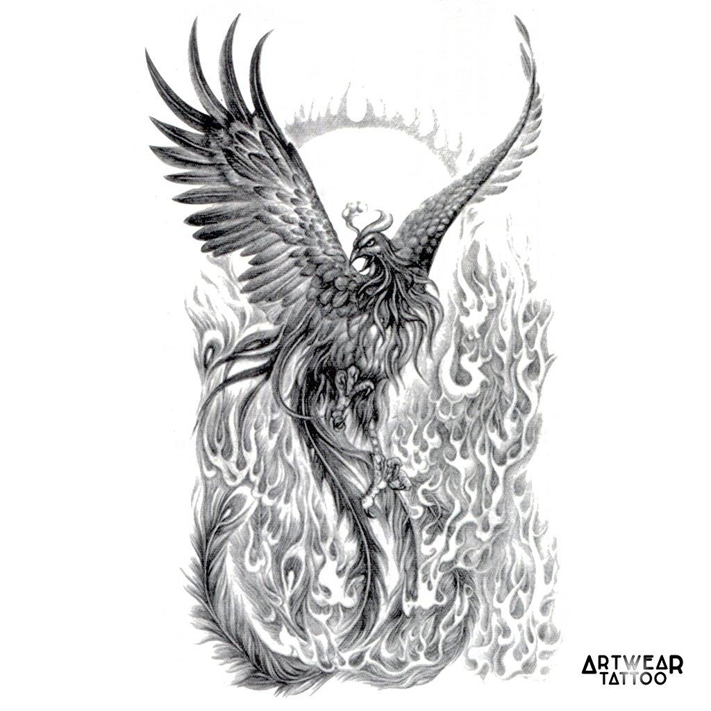 Tatouage Temporaire Artwear Tattoo Phoenix