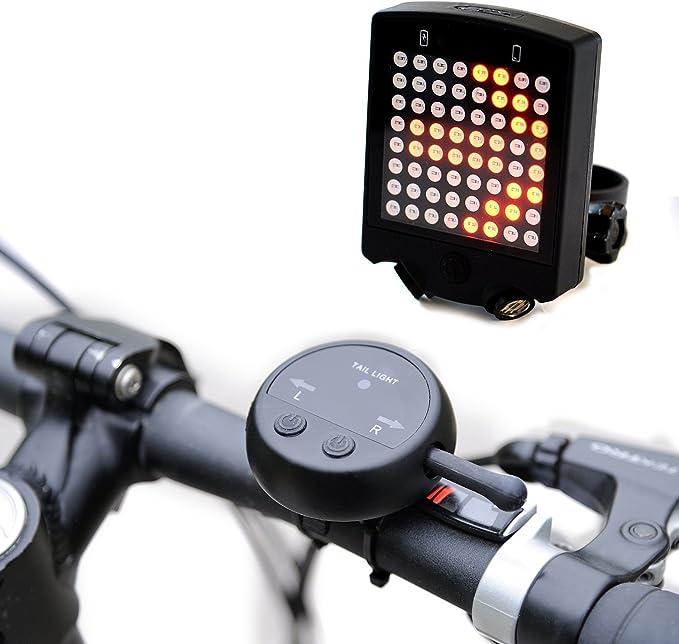 Luz led trasera de advertencia de giro para bicicleta, 64 luces ...