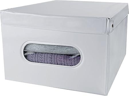 Compactor con Espacio de Almacenamiento 28 cm PVC y Caja Smart de cartón, Blanco: Amazon.es: Hogar
