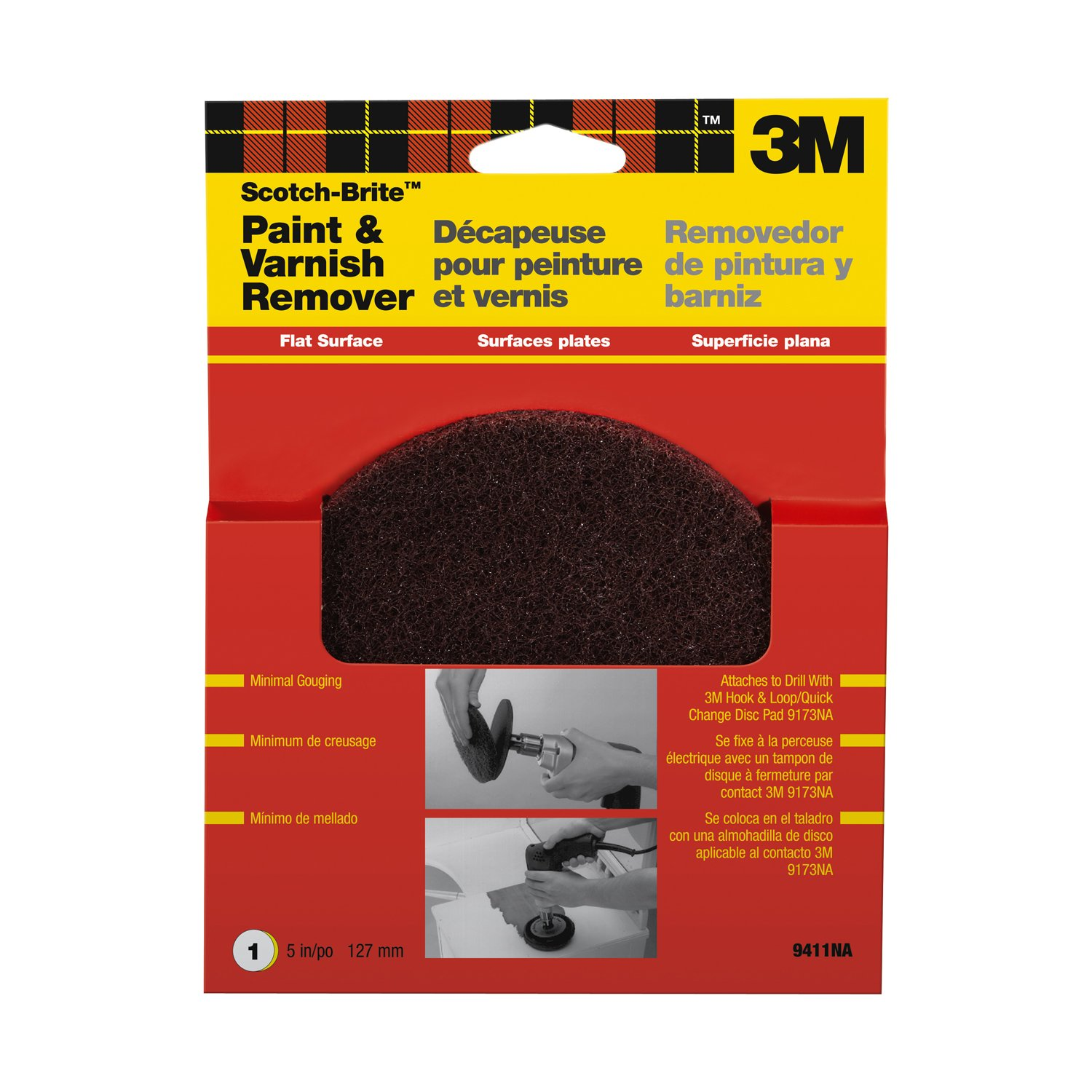 3M Scotch-Brite Flat Surface Paint and Rust Stripper (9410NA) - Hook And Loop Discs - Amazon.com