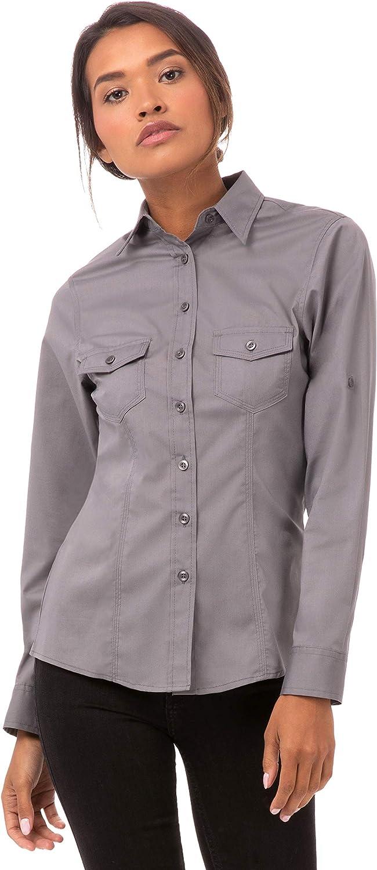Uniforme obras b215-xl Ladies Piloto Camisa, gris: Amazon.es: Industria, empresas y ciencia