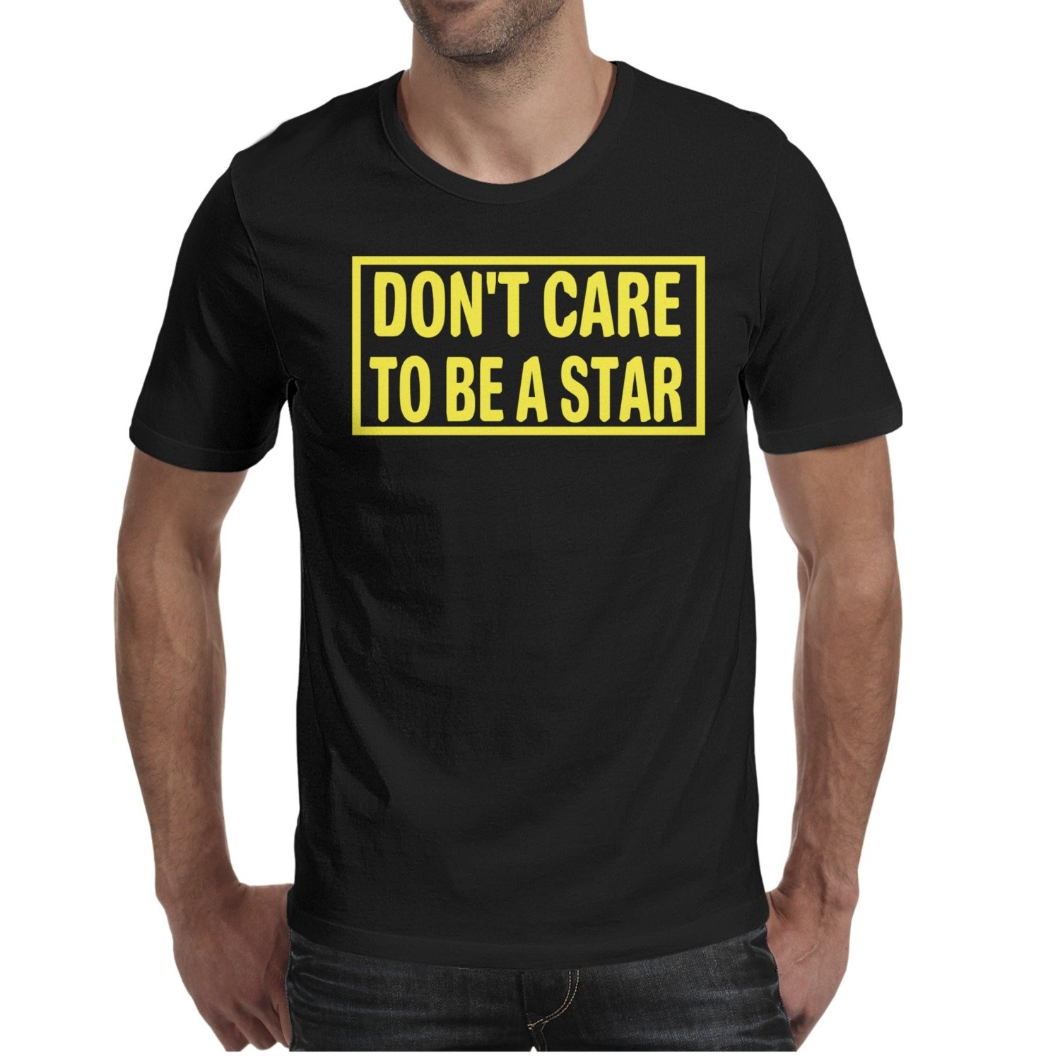 Amazon Mens T Shirts Dont Care To Be A Star Awesome Custom O