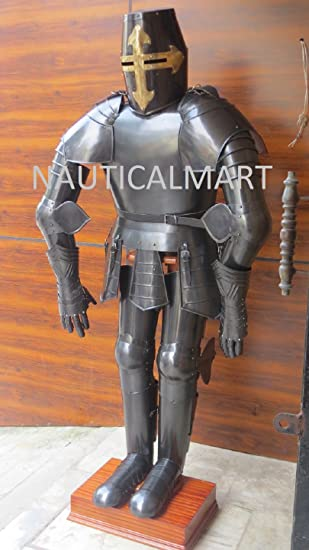 Amazon.com: Nauticalart, traje medieval de caballero negro ...