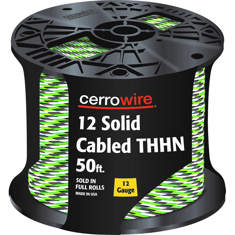 CERRO 112-16003250 250-Feet Solid Cabled Thhn Black, White and Green ...