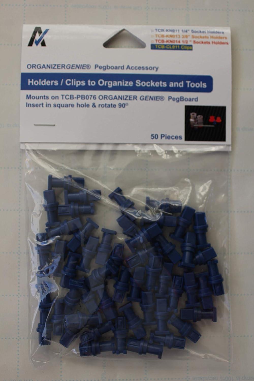 """1/4"""" Socket Holders (50 Pcs) - Accessories für Organizer Genie Pegboards zu Organize Tools"""