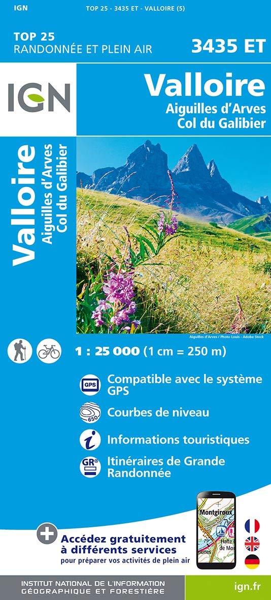 IGN Valloire/Aiguilles D'Arves/Col du Galibier - Carte topographique