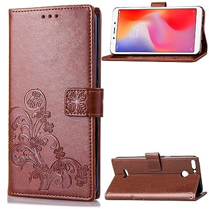 the best attitude cae4a 488e5 Danallc Thin Leather Flip Cover Case for Xiaomi Redmi 6: Amazon.in ...