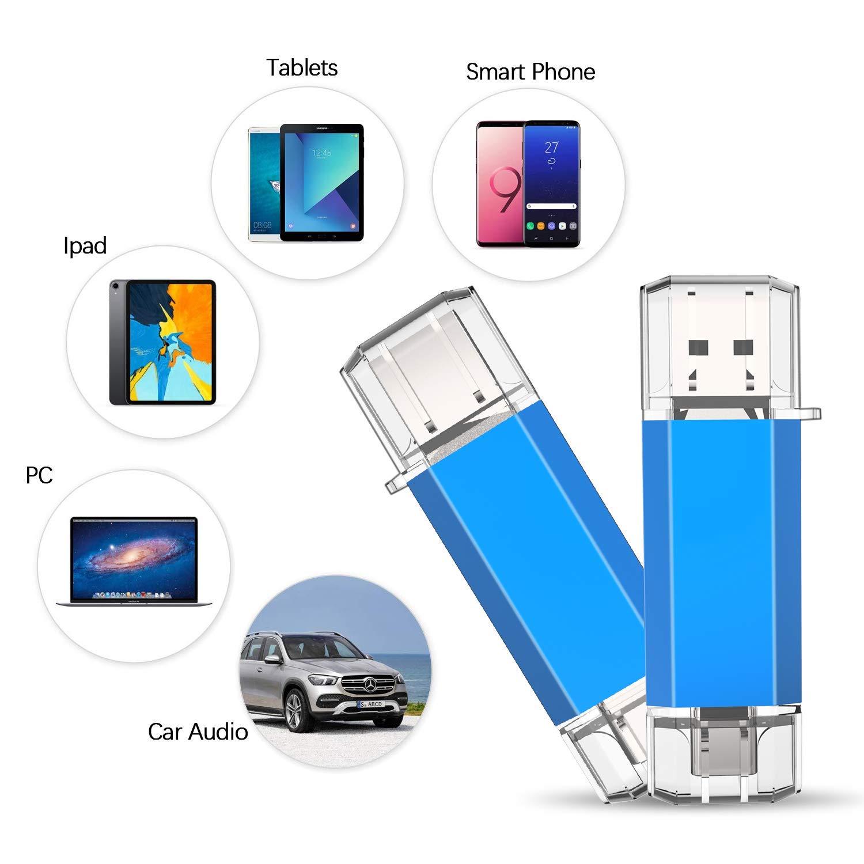 KOOTION USB Stick 128 GB USB C Stick Memory Stick USB 3.0 Flash-Laufwerk 2-in-1 OTG Type C USB C Speicherstick f/ür PC//Laptop//Notebook//Type C Ger/äte Blau