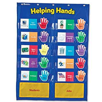 Amazon com learning resources helping hands pocket chart toys games
