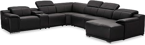 Ibbe Design Module U Vorm Hoekbank Zwart Leer Relaxsofa Met Elektrisch Verstelbare Relaxfunctie Sofa Alexa Met Chaise Oungue 319 X 359 X 160 X 73 Cm Amazon Nl