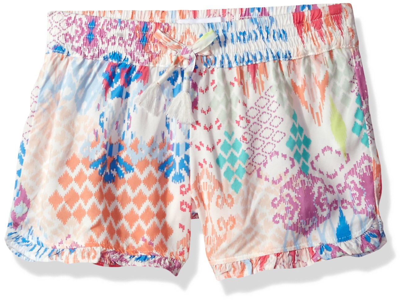 The Children's Place Toddler Girls' Printed Soft Short, Snow 81819, L (10/12) by The Children's Place (Image #1)