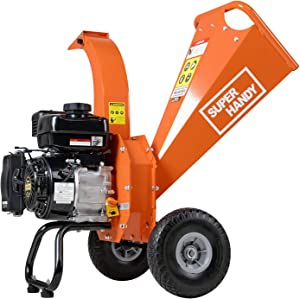 """SuperHandy Mini Wood Chipper Shredder Mulcher Ultra Duty 7 HP 212cc Gas Powered 3"""" Inch Max Wood Capacity EPA/CARB Certified Aids in Fire Prevention/Building Firebreaks (Amazon Exclusive only for USA)"""