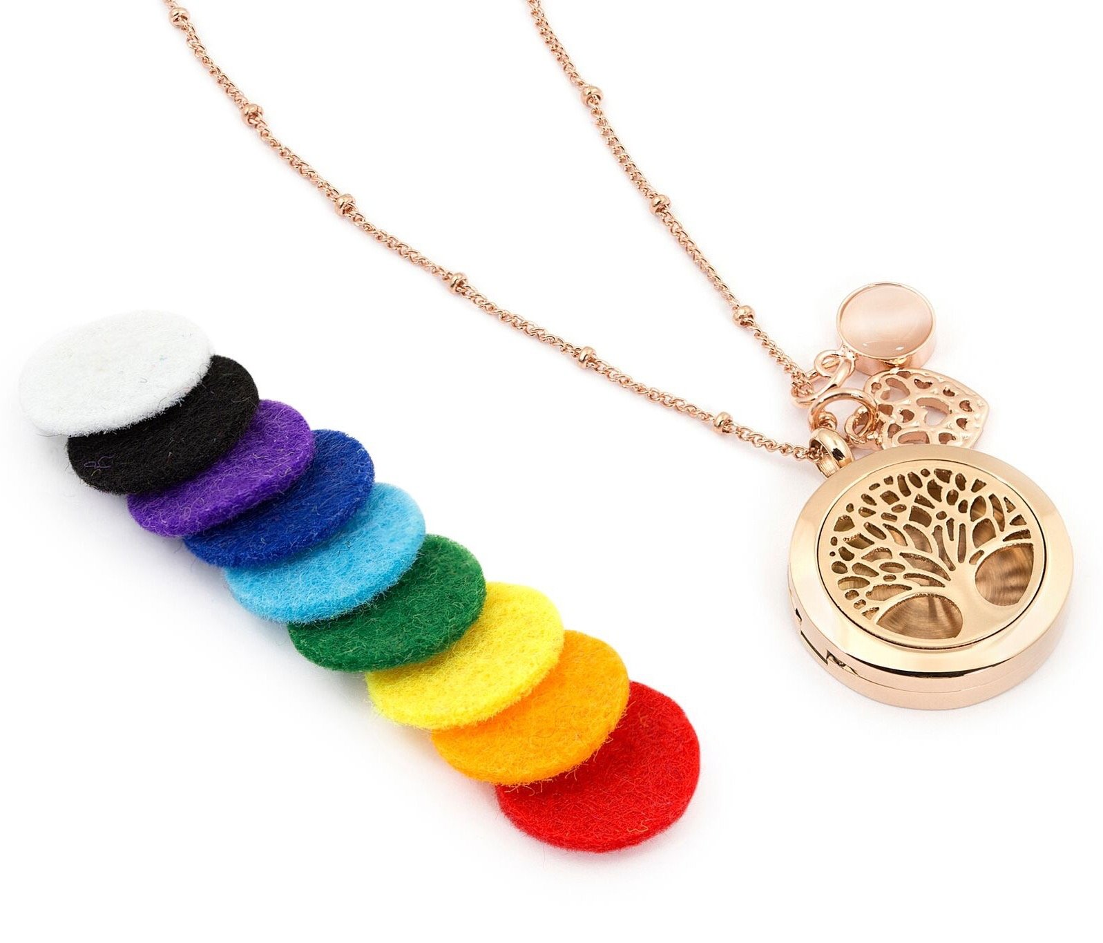 Amazoncom 1 Rose Gold Essential Oil Diffuser Necklace