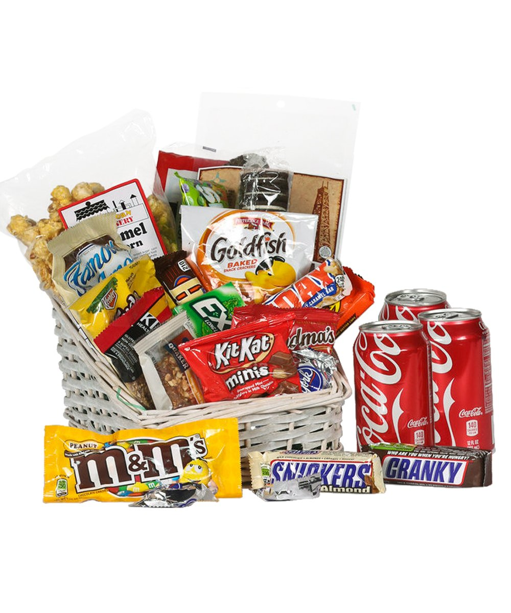 Survival Kit Junk Food Basket - Fresh Flowers Hand Delivered in Albuquerque Area