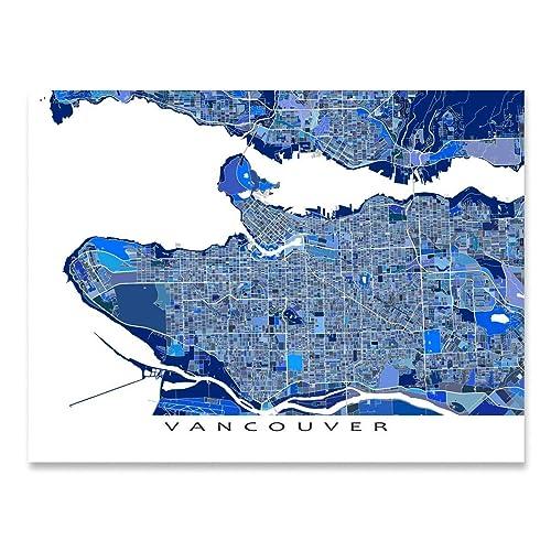 Vancouver Bc Canada Map.Amazon Com Vancouver Bc Map Print British Columbia Canada Van