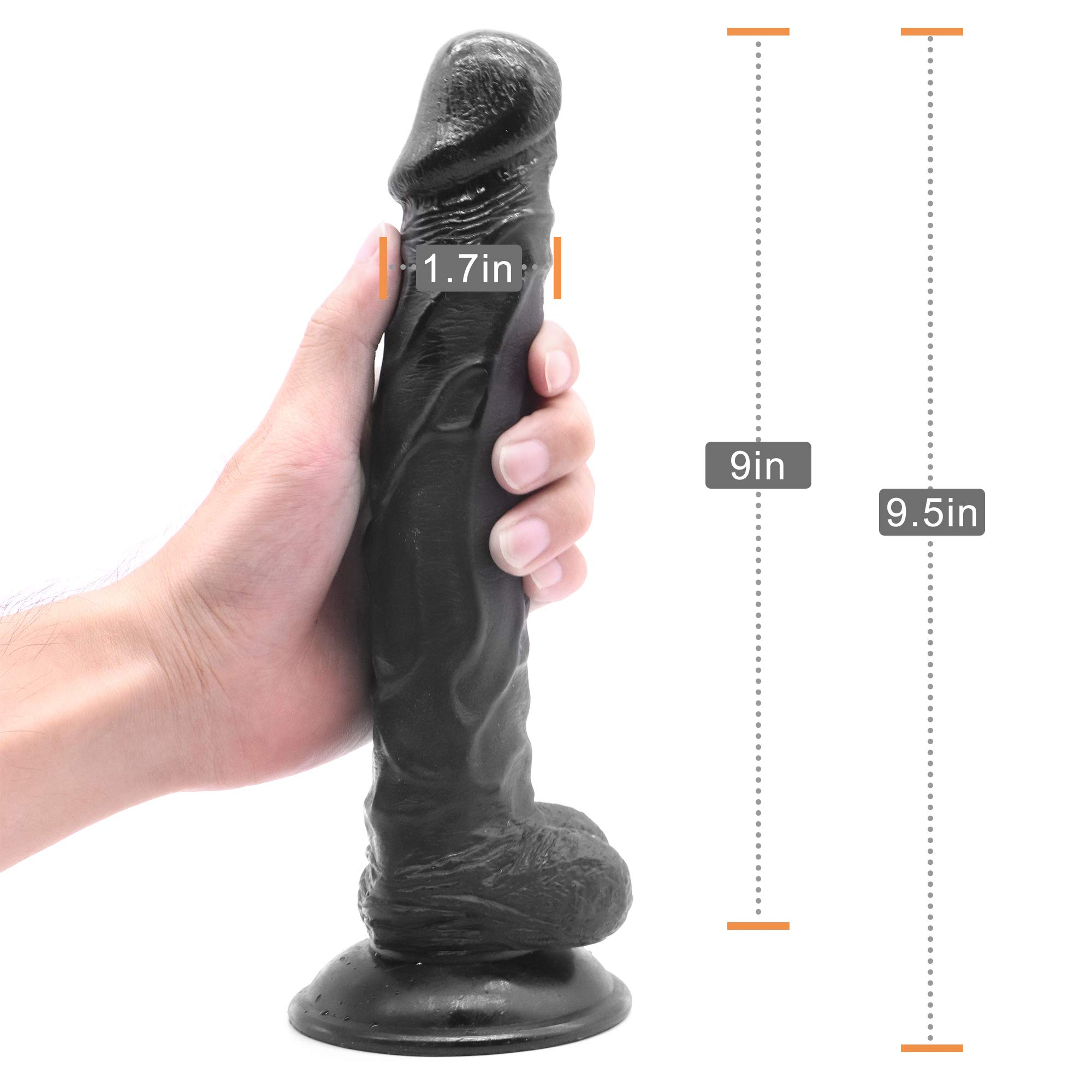 HU-PK 9.5 inches Black Soft Incredible Toy Used for Special Holiday, Role-Playing Convention, Bridal Party
