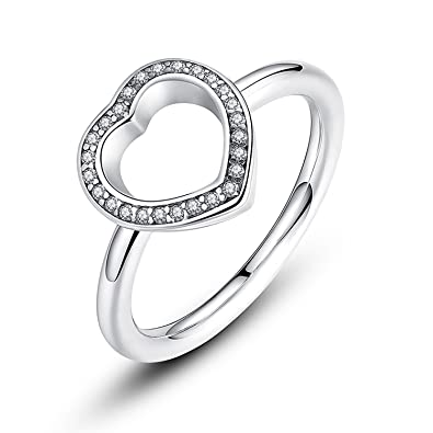 bb ring heart be my valentine ring with clear cz original new collection pa7146