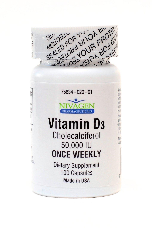 Vitamin D3 50,000 IU (100)