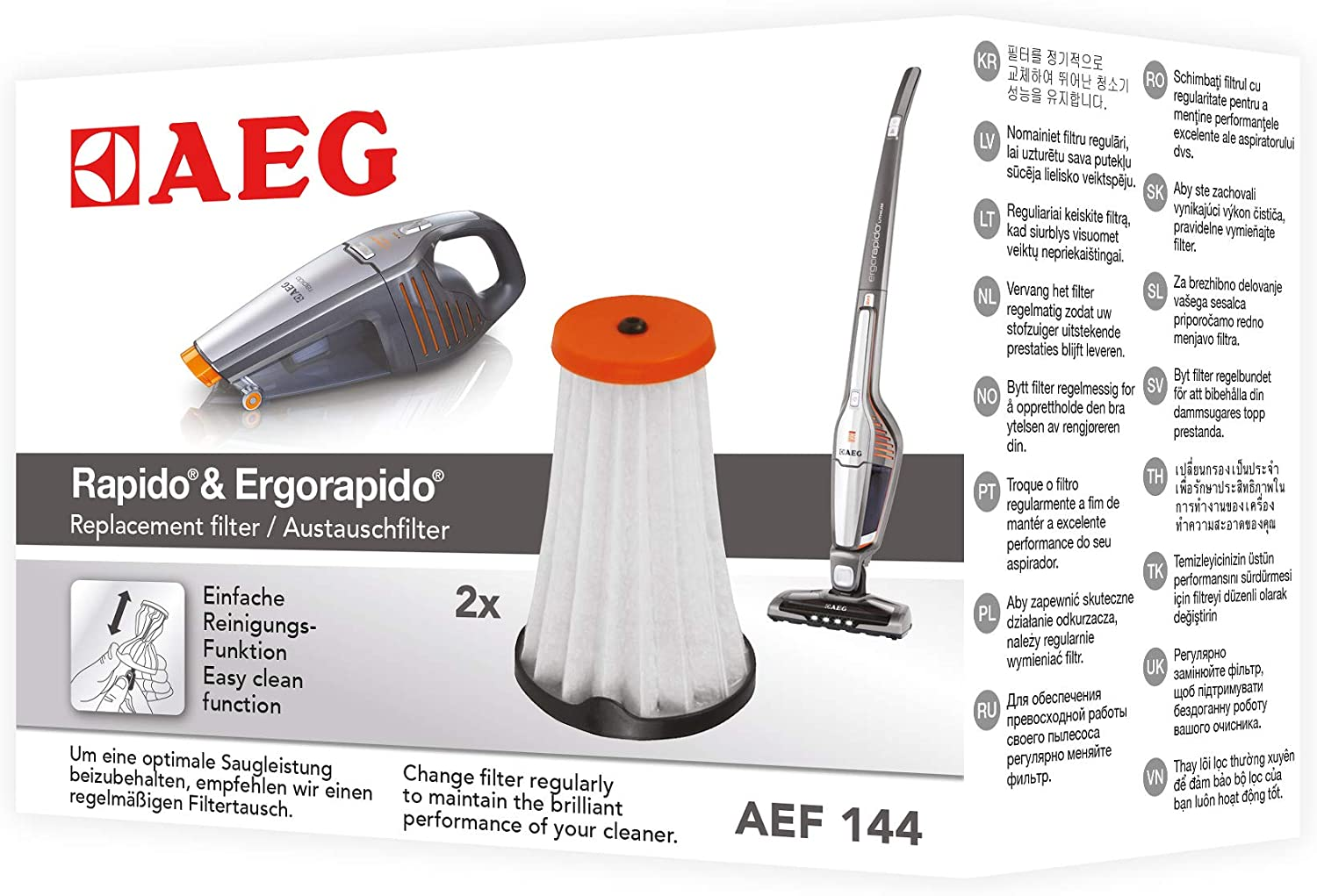 AEG AEF144 Filtros interiores HX6 X Convenience: Amazon.es: Hogar