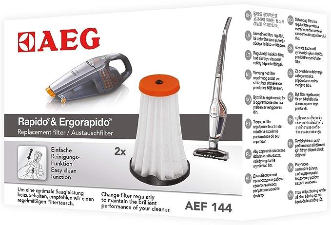 2x Lamellenfilter Innenfilter Feinfilter für AEG Rapido AG 6108 AG 6114