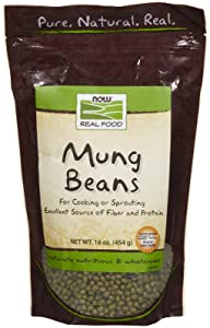 NOW Foods, Mung Beans, For Cooking and Sprouting, Excellent Source of Protein and Fiber, Grown in the USA, 1-Pound